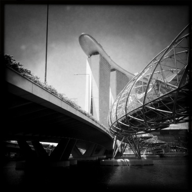 A peek at the Marina Bay Sands Hotel