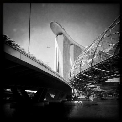 A peek at the Marina Bay Sands Hotel