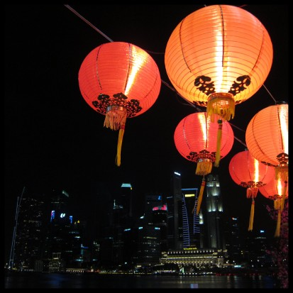 lanterns and the city