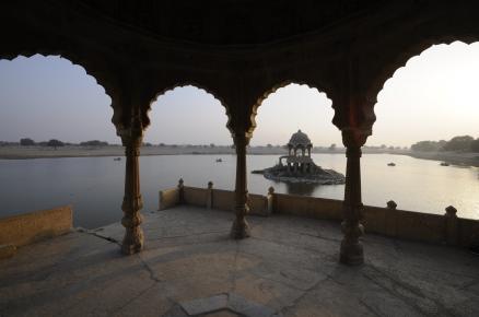 At a lake in Jaisalmer
