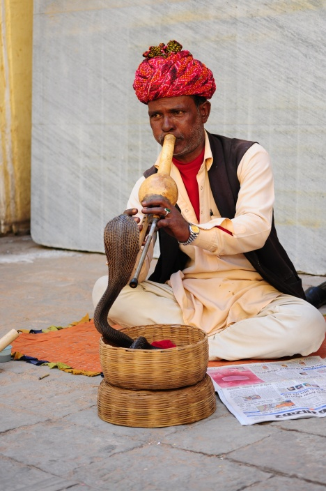 Snake charmer - straight out of central casting!