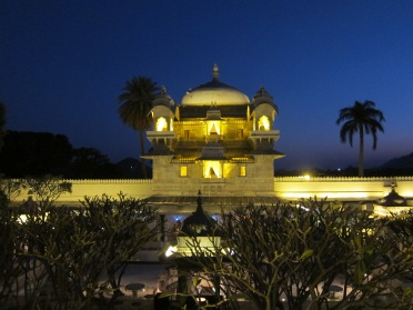 The Jag Mandir Palace in the moonlight - Udaipur
