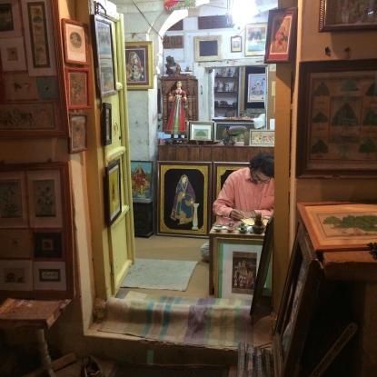 An artist at Jaisalmer Fort