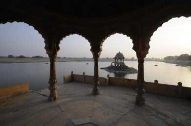 One of many architectural marvels in Rajasthan - this one in a lake in Jaisalmer.