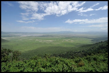 The fabulous Ngorongoro Crater in Tanzania.