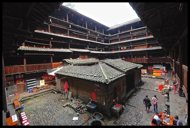 A square Tulou in Fujian, China